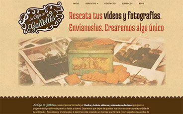 Diseño web video album